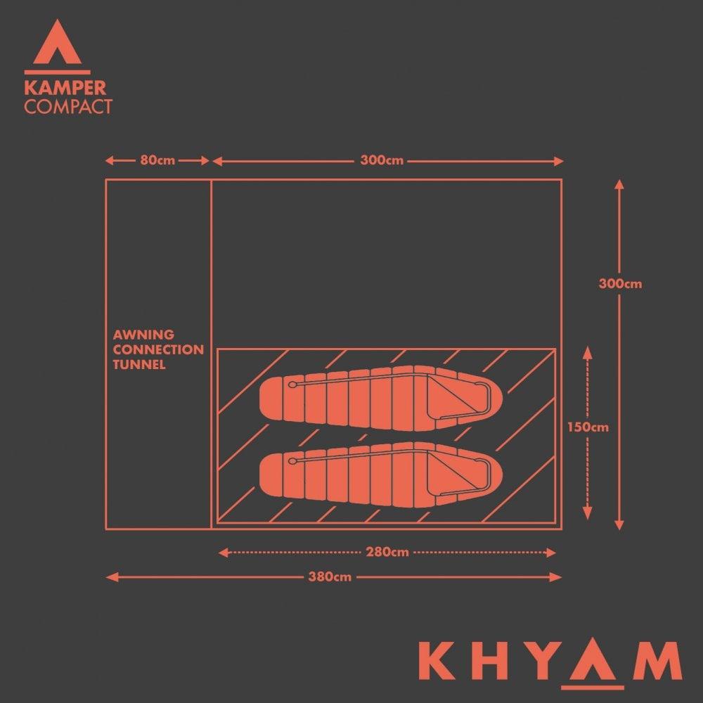 Khyam Kamper Compact Driveaway Awning Plan