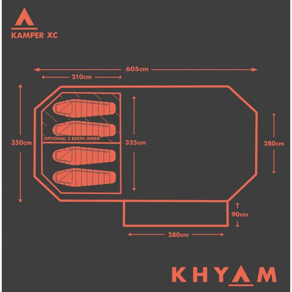 Khyam Kamper XC Driveaway Awning Plan