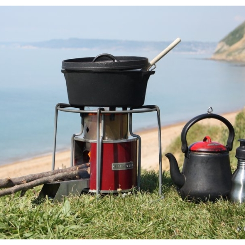 Ezy stove rocket stove wood fuelled camp cooking by wild for Wood burning rocket stove