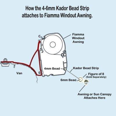4-6mm Kador Bead Fiamma Awning