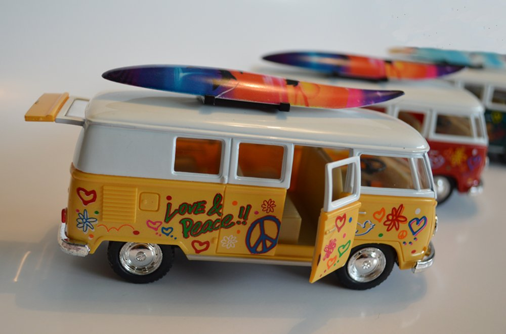 Die Cast Metal VW Splitty Camper Bus - 1:32