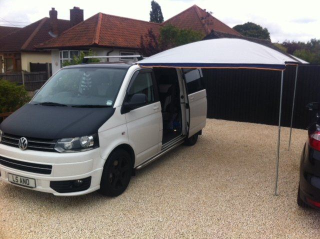 VW T5 Bolt On Awning ... & VW T5 Bolt On Awning Rail for Roof Rack - Camper Essentials