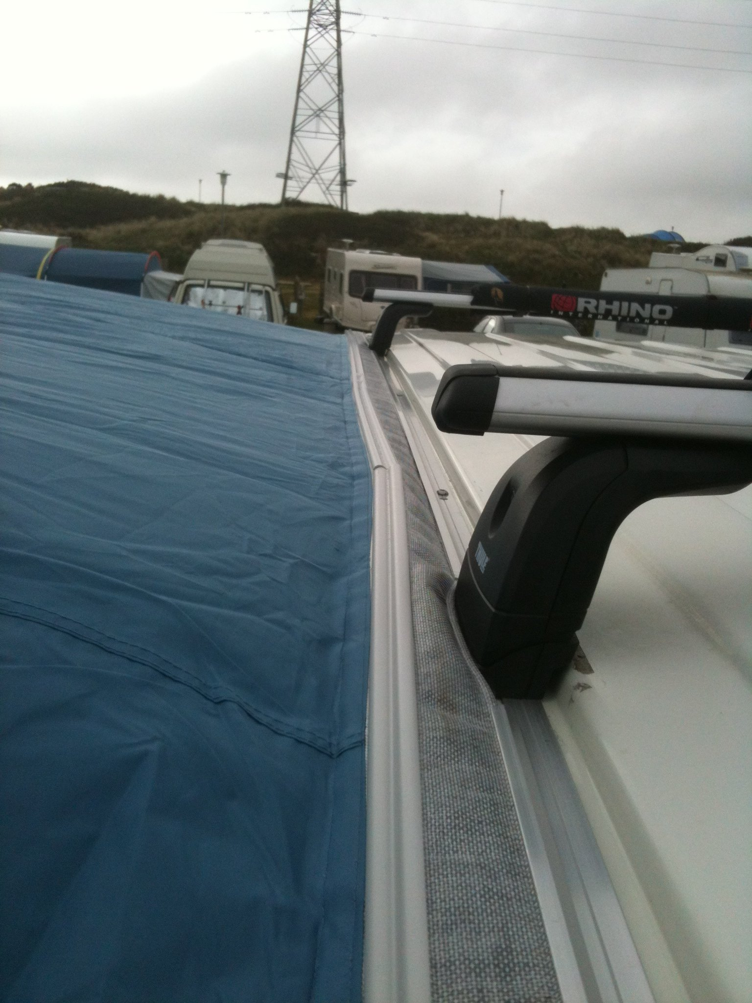 VW T5 Bolt On Awning Rail for Roof Rack