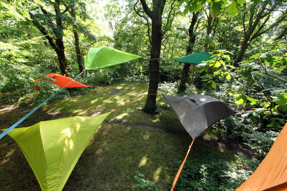 Tentsile Gl&ing Site & Tentsile Stingray Tree Tent Unique Portable Treehouse - Camper ...