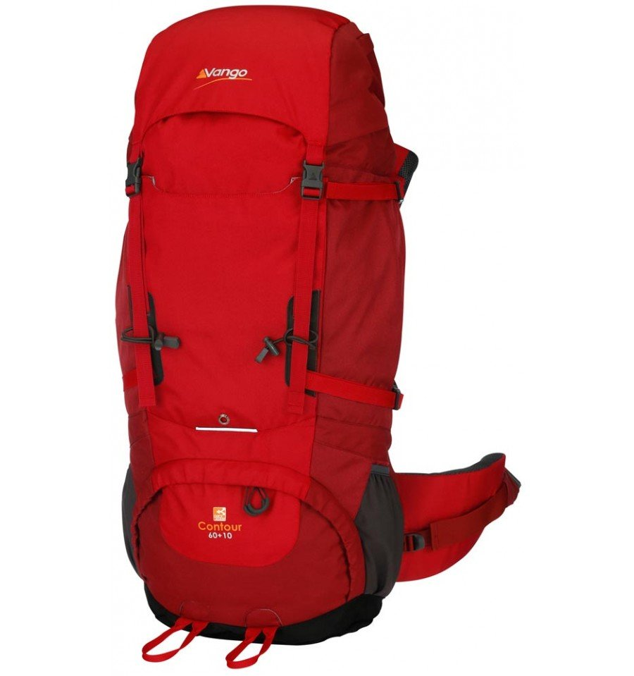 Vango-Contour-60plus10-Rucksack-Red