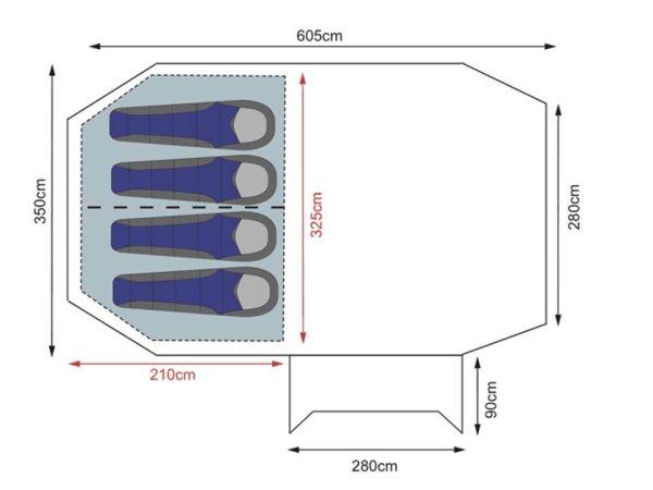 Khyam Aerotech 4XL Floorplan