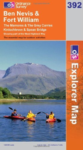 Ben Nevis and Fort William, The Mamores and The Grey Corries, Kinlochleven and Spean Bridge (OS Explorer Map)