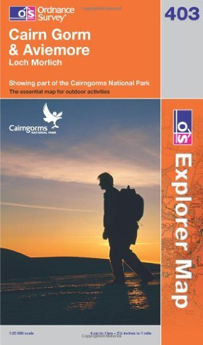Cairn Gorm & Aviemore: Loch Morlich. Showing part of the Cairngorms National Park (OS Explorer Map)