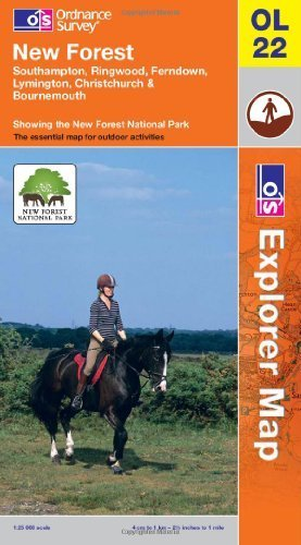 New Forest, Southampton, Ringwood, Ferndown, Lymington, Christchurch and Bournemouth: Southampton, Ringwood, Ferndown, Lymington, Christchurch & ... New Forest National park (OS Explorer Map)