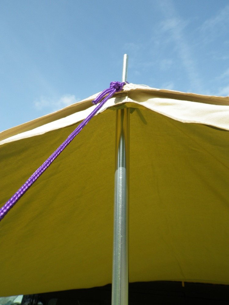 Cotton Canvas Sun Canopy Adjustable Poles