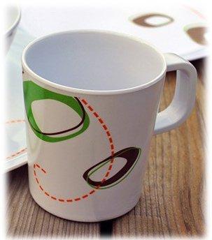 4 Melamine Cups - Twirl