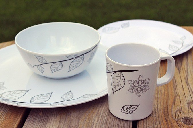 16 piece Melamine Dinner Set - Autumn Breeze