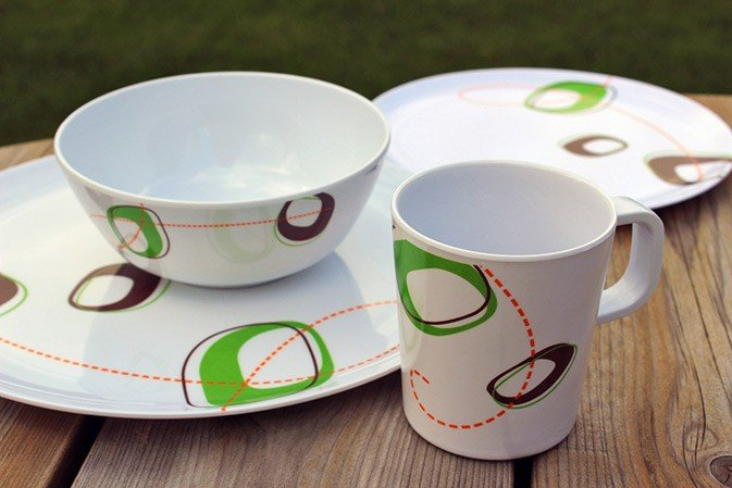 16 Piece Melamine Dinner Set - Twirl