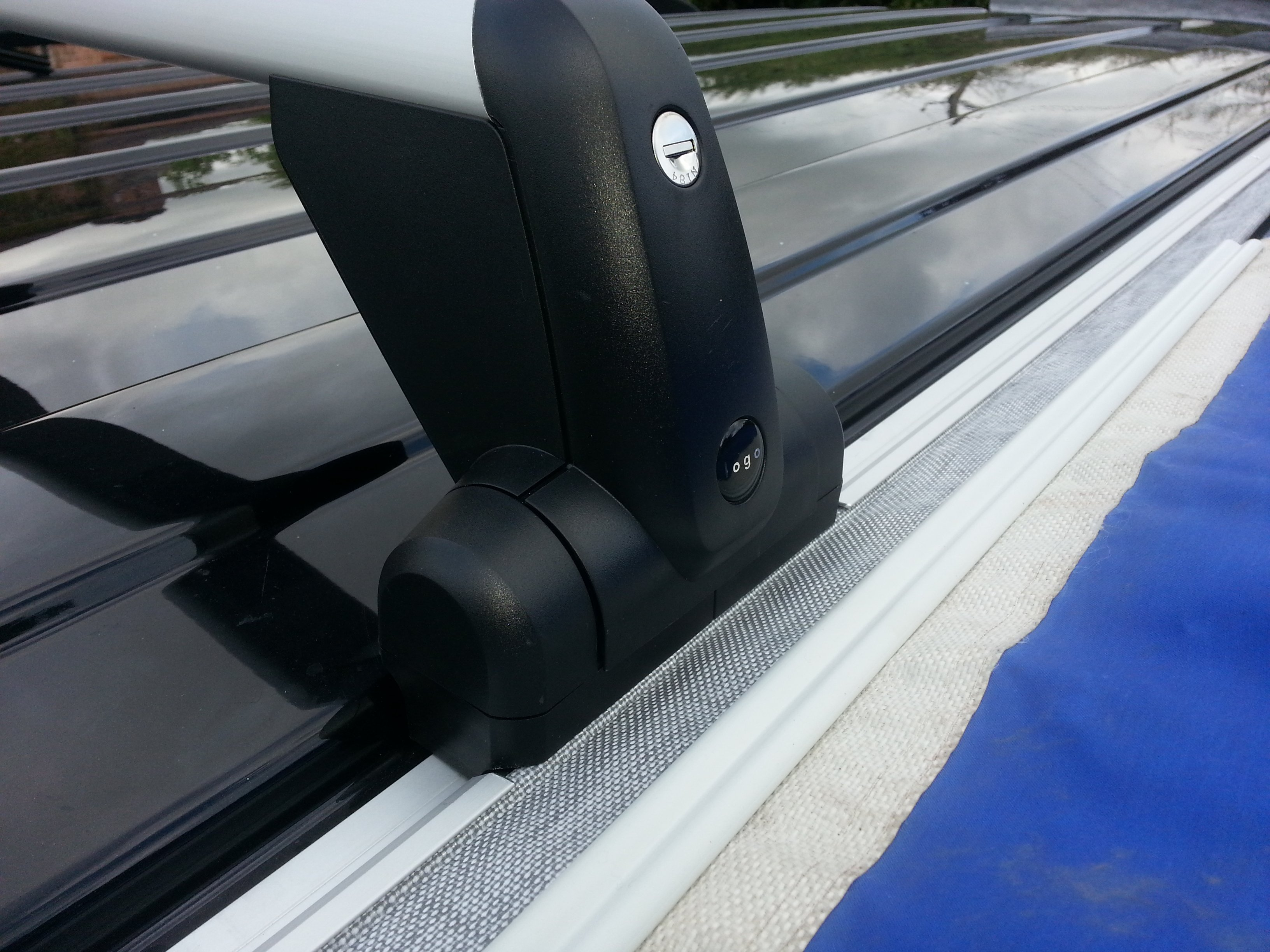 VW T5 Bolted Awning Rail VW Logo Roof Rack - Camper Essentials