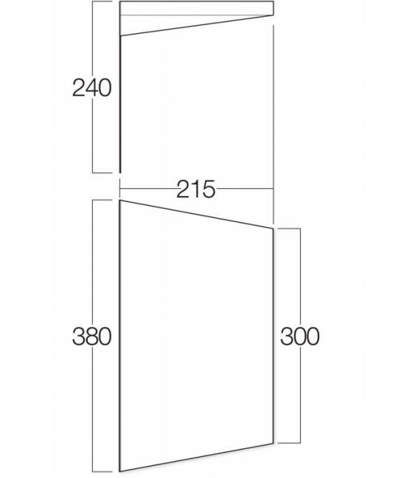Vango 3m Sun Canopy Floorplan