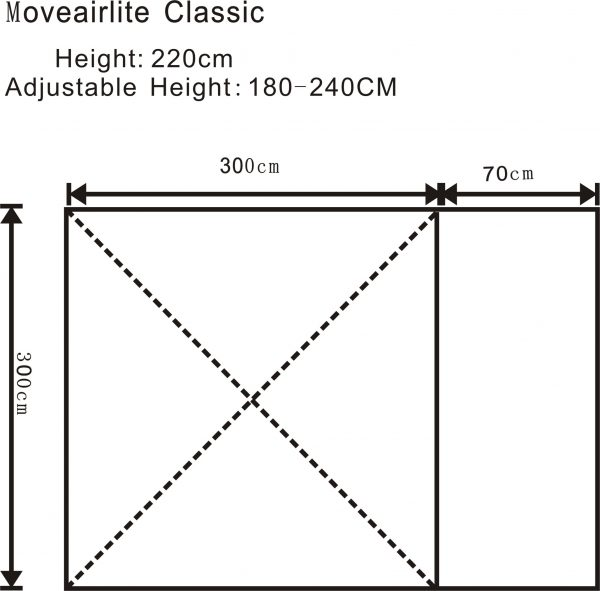2017 Outdoor Revolution MoveAirLite Classic Awning Floorplan