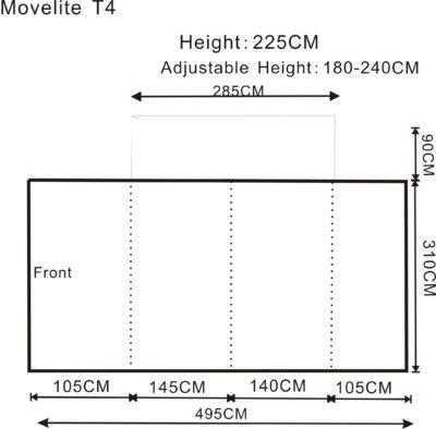 2017 Outdoor Revolution Movelite T4 Lowline Airbeam Driveaway Awning Floorplan