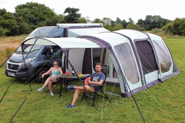 2017 Outdoor Revolution Movelite T4 Lowline Airbeam Driveaway Awning Optional Canopy