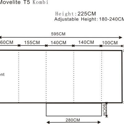 2017 Outdoor Revolution Movelite T5 Kombi Flex Driveaway Air Awning Floorplan
