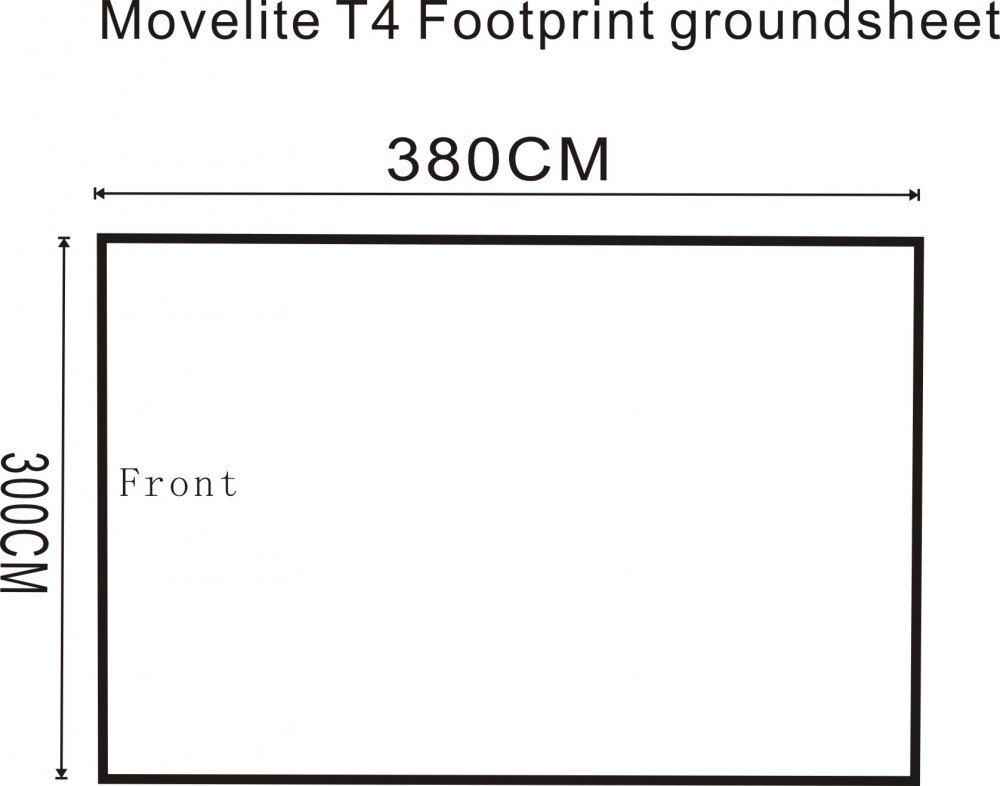 2018 Outdoor Revolution Movelite T4 Lowline Airbeam Driveaway Awning Footprint Groundsheet Size
