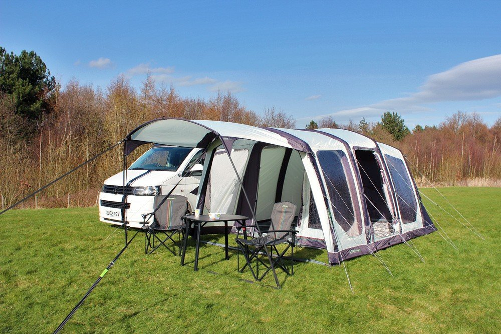 2018 Outdoor Revolution Movelite T4 Highline Airbeam Driveaway Awning with Canopy and porch area