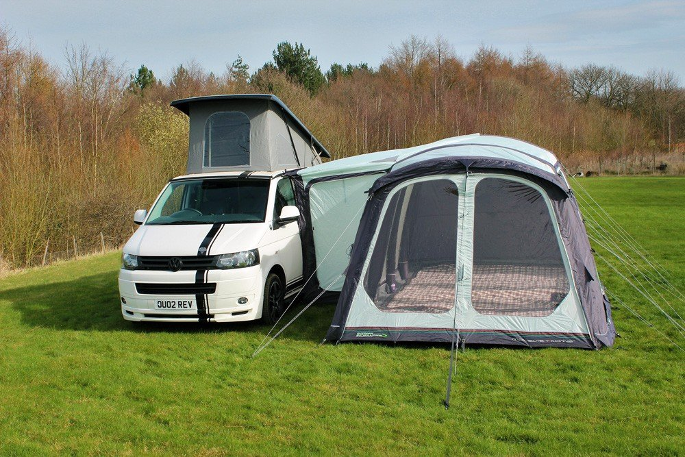 2018 Outdoor Revolution Movelite T5 Kombi Flex Driveaway Air Awning on VW T5 T6