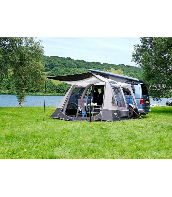 Vango Airbeam Kela IV Low Driveaway Awning 2018 with optional canopy king poles