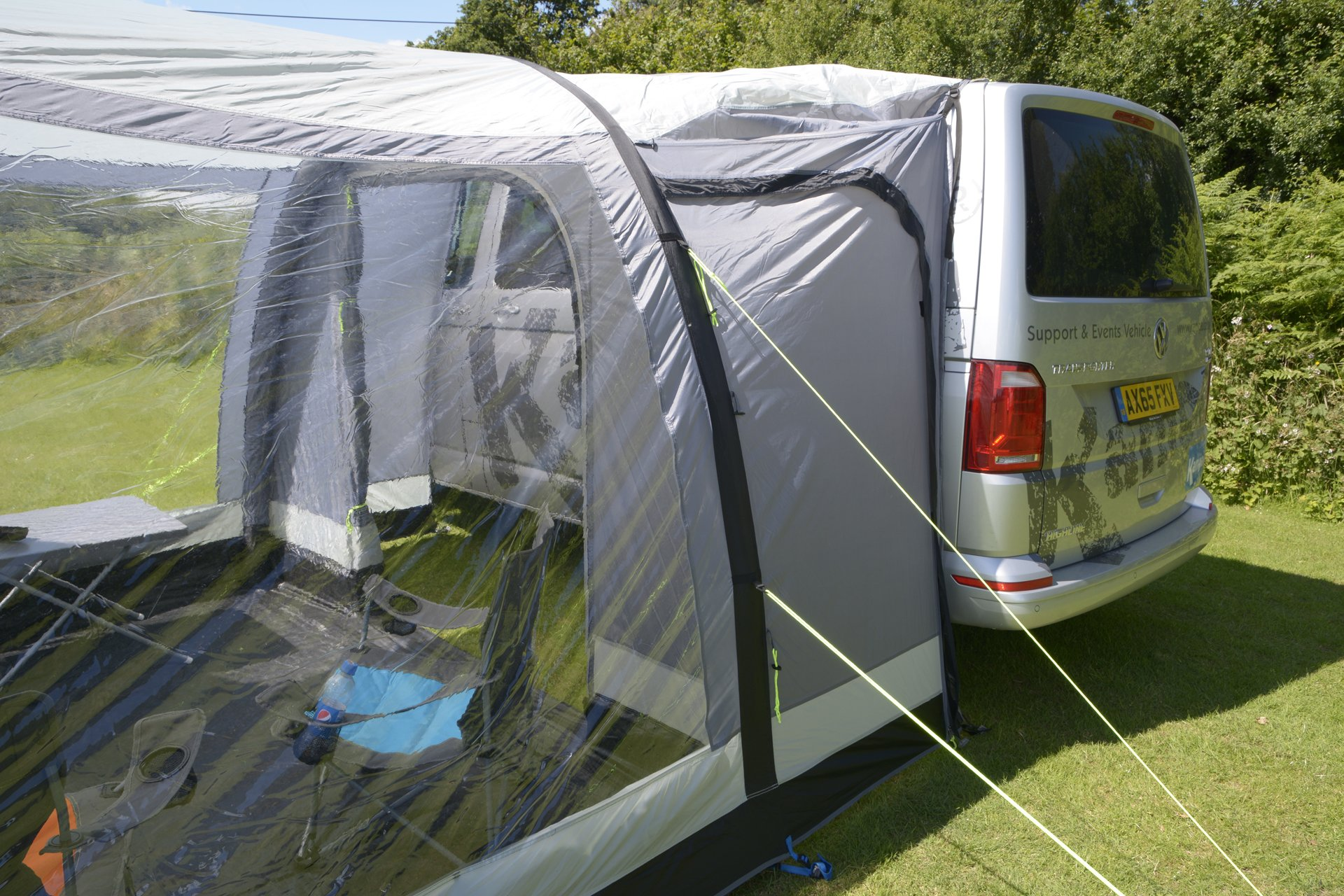 Kampa Travel Pod Action AIR VW Driveaway Awning lin with car