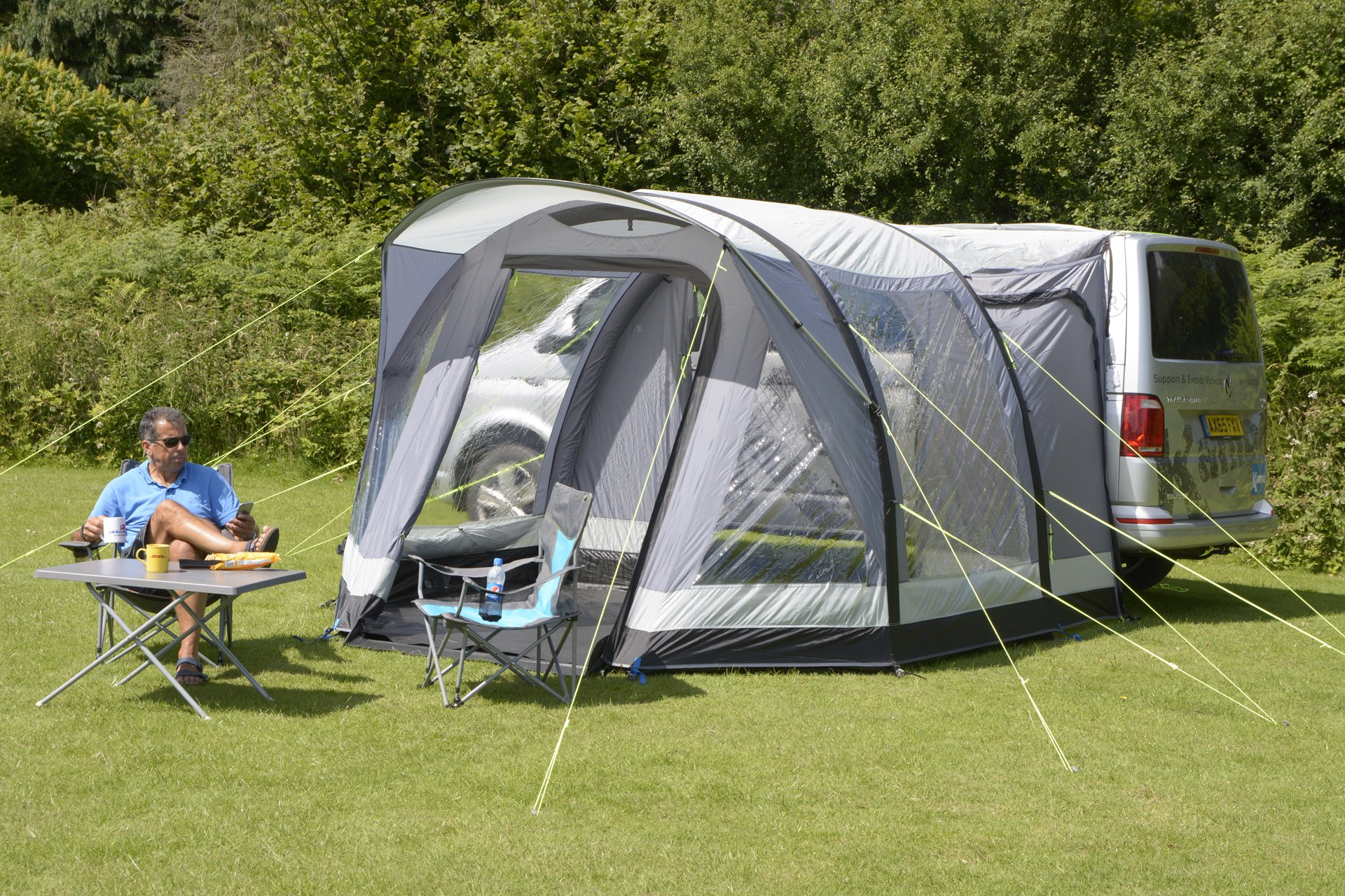 Kampa Travel Pod Action AIR VW Driveaway Awning outside