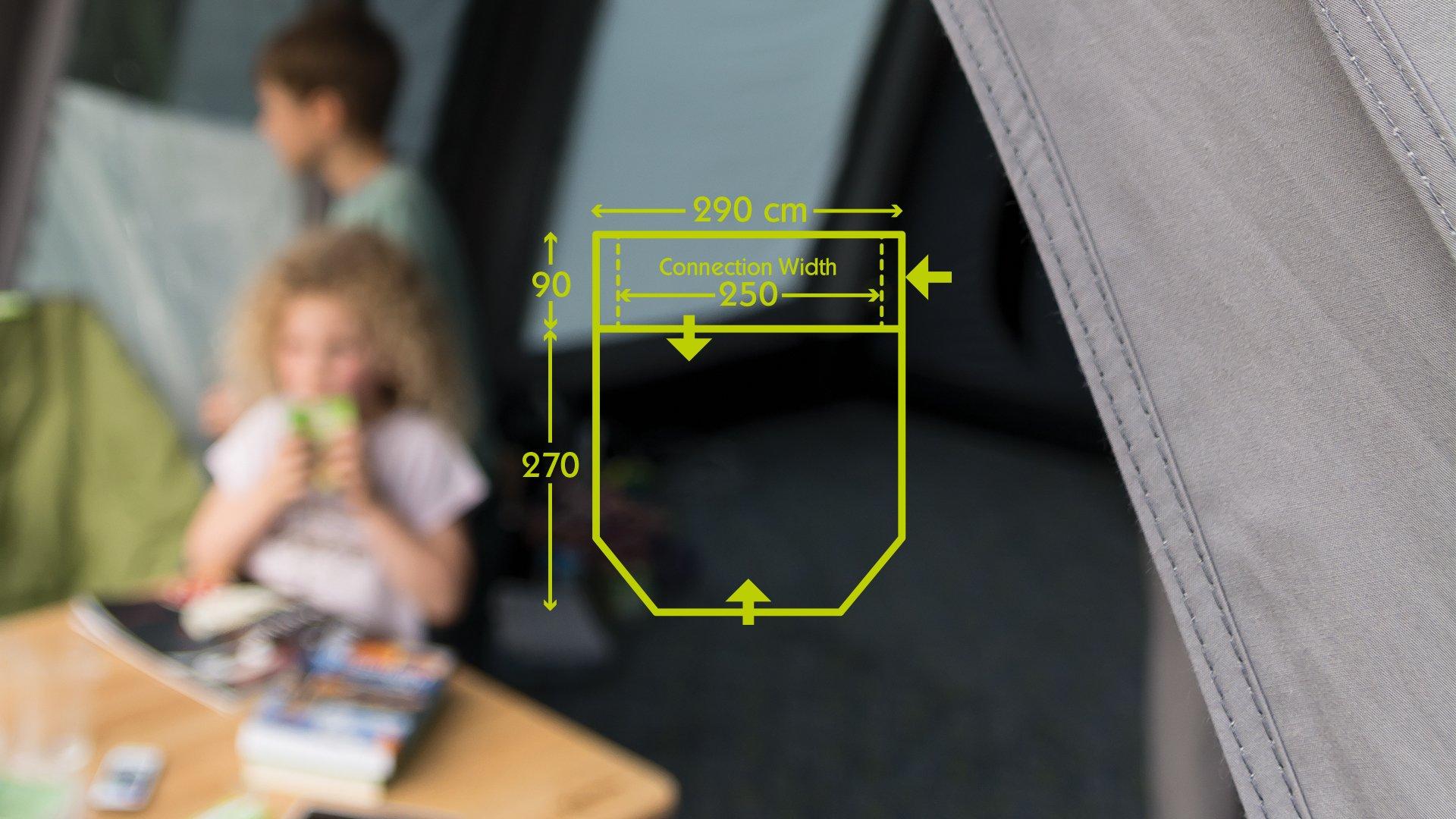 Kampa Travel Pod Action AIR VW Driveaway Awning plan