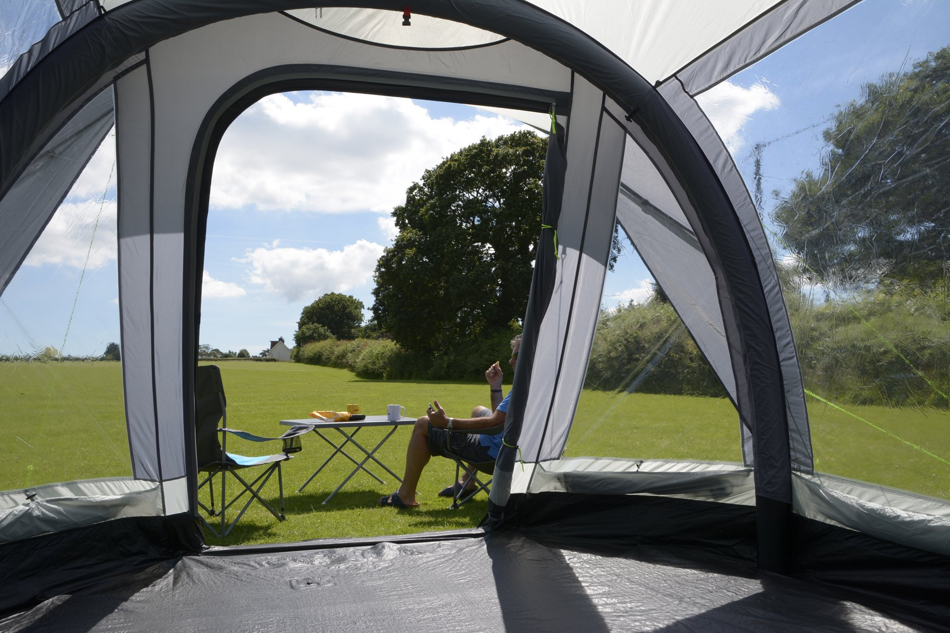 Kampa Travel Pod Action AIR VW Driveaway Awning view to outside
