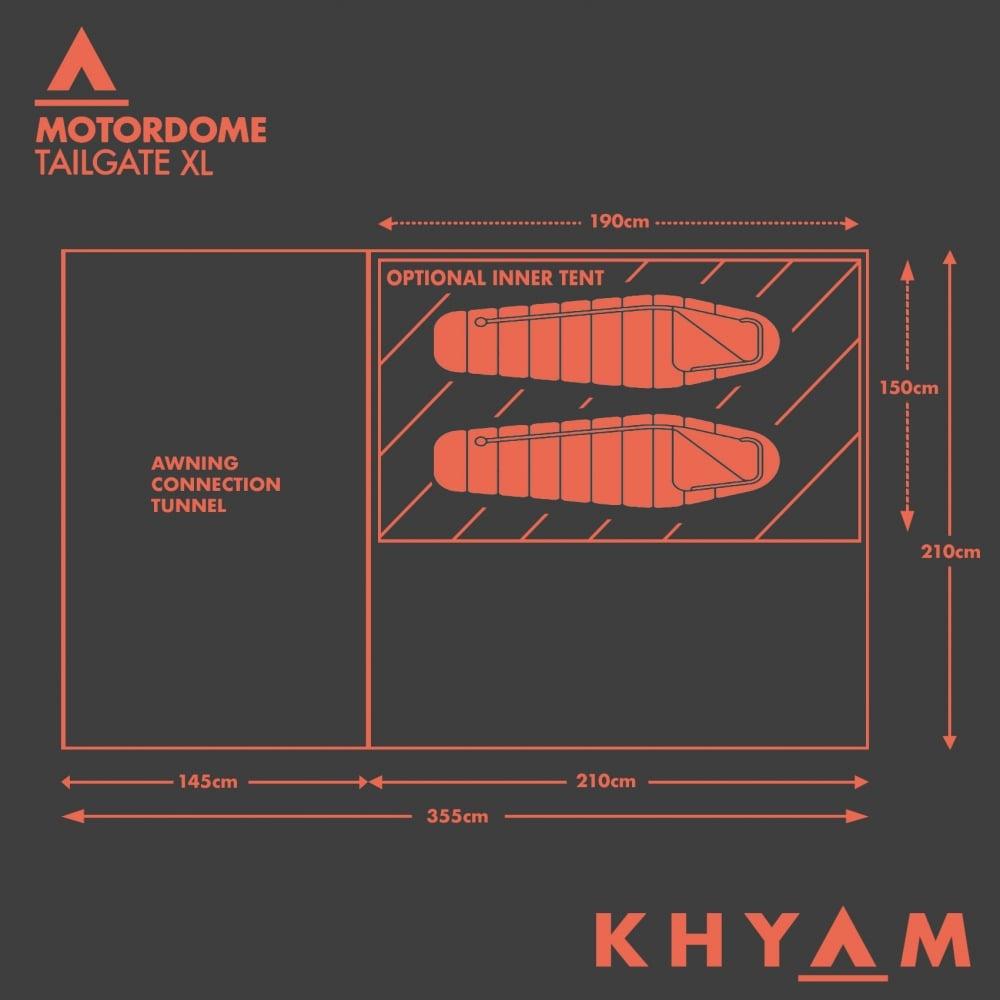 Khyam Motordome Tailgate XL Bundle beds plan