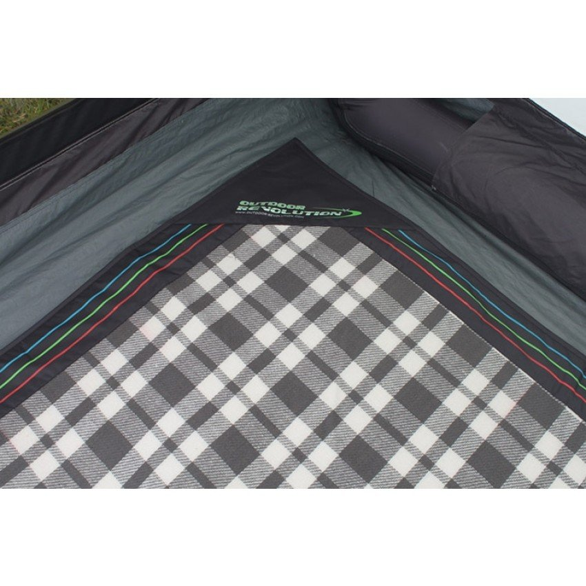 Outdoor Revolution T1 Awning 2.8m x 2.8m Snugrug Carpet