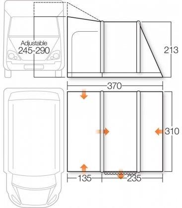 Vango Idris II Tall Driveaway Awning 2018 Bundle plan
