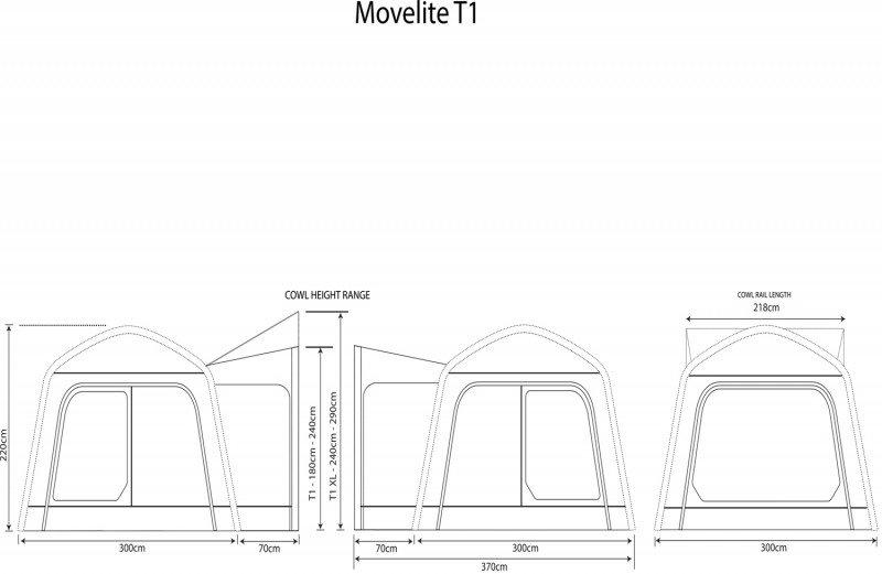 2018 Outdoor Revolution Movelite T1 Airbeam Driveaway Awning Floorplan