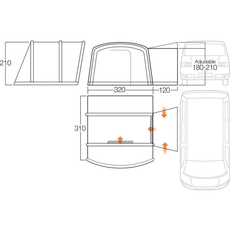 Vango Galli II Compact RSV Low Driveaway Awning 2018