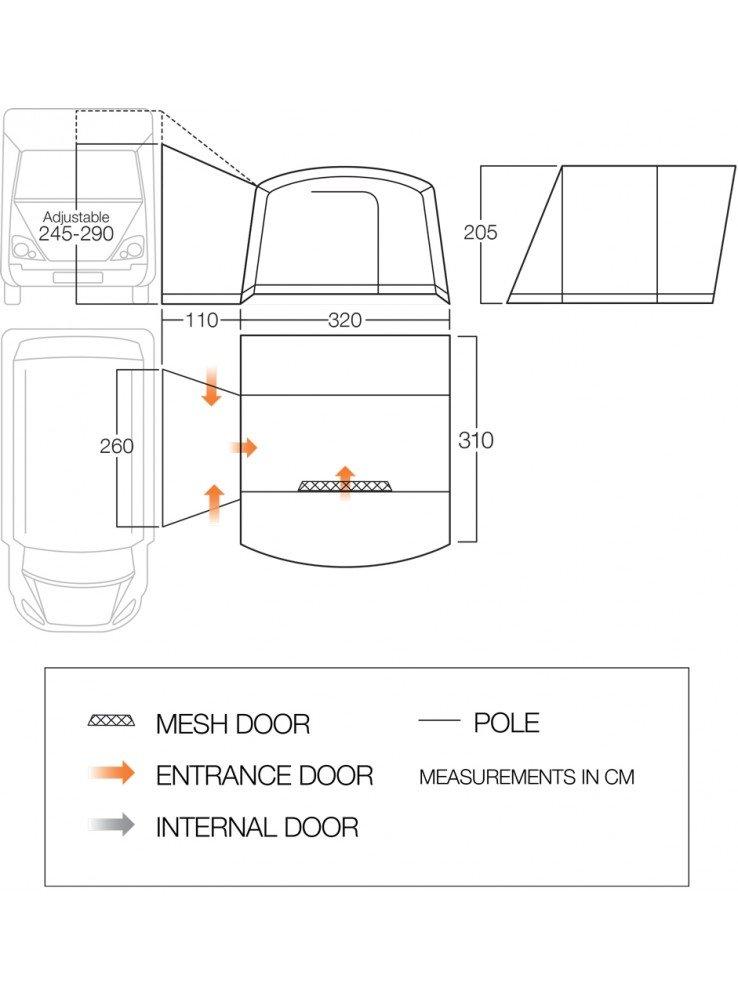 Vango Noosa Tall Floorplan