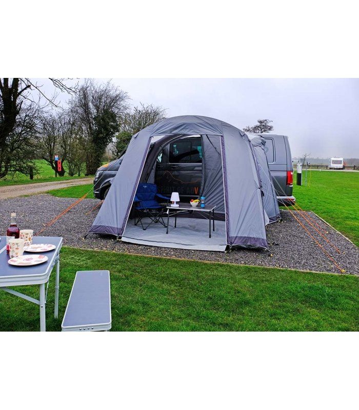 Vango Airbeam Palm Low Driveaway Awning front open