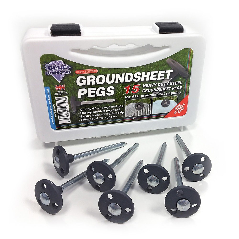 Outdoor Revolution Metal Groundsheet Pegs x 15